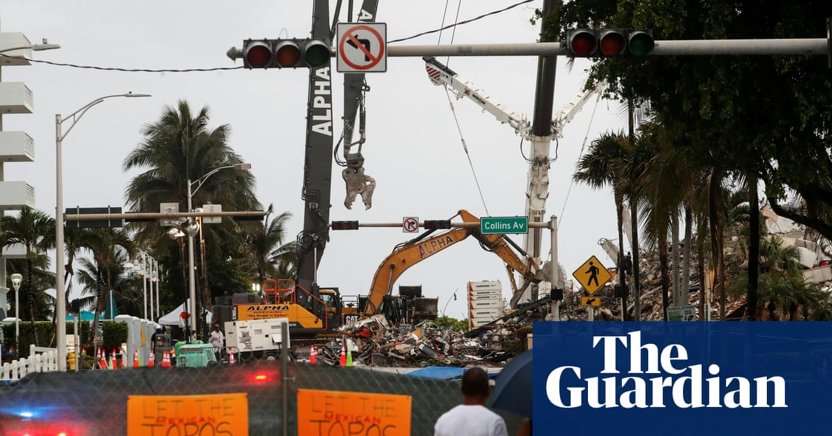 Miami condo collapse: rescue effort threatened as tropical storm nears
