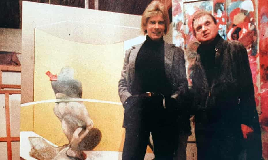 Barry Joule with Francis Bacon in London, March 1986.