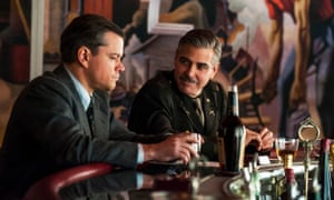 Matt Damon and George Clooney in The Monuments Men