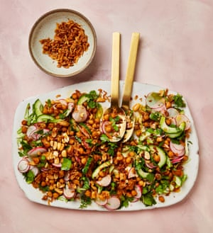 Yotam Ottolenghi's miso and peanut butter chickpea salad.