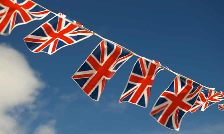 British flags and bunting decoration in Jersey
