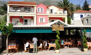 A taverna in Greece. Germans continue to visit the country in record numbers despite the eurozone crisis.