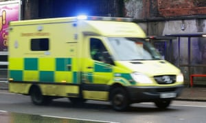 The ambulance had responded to a 999 call to assist a woman who was experiencing breathing difficulties.