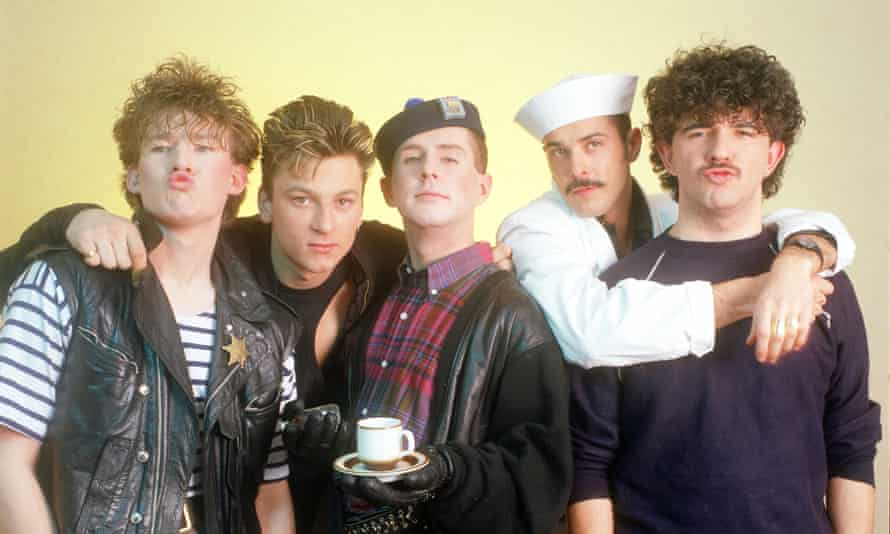 Frankie Goes to Hollywood in 1984, with Holly Johnson centre