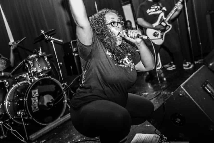 Maafa performing at the Break Free Fest