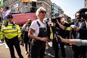 The protest at Oxford Circus is joined by the actor Emma Thompson