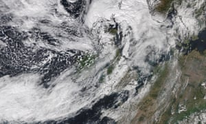 Satellite image by the University of Dundee of the Storm Ali cloud system blanketing the UK on Wednesday.
