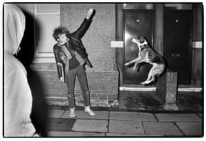 A performing dog, Fenham, 1989