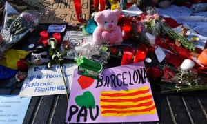 Tributes at Las Ramblas to the victims of the Barcelona attack.