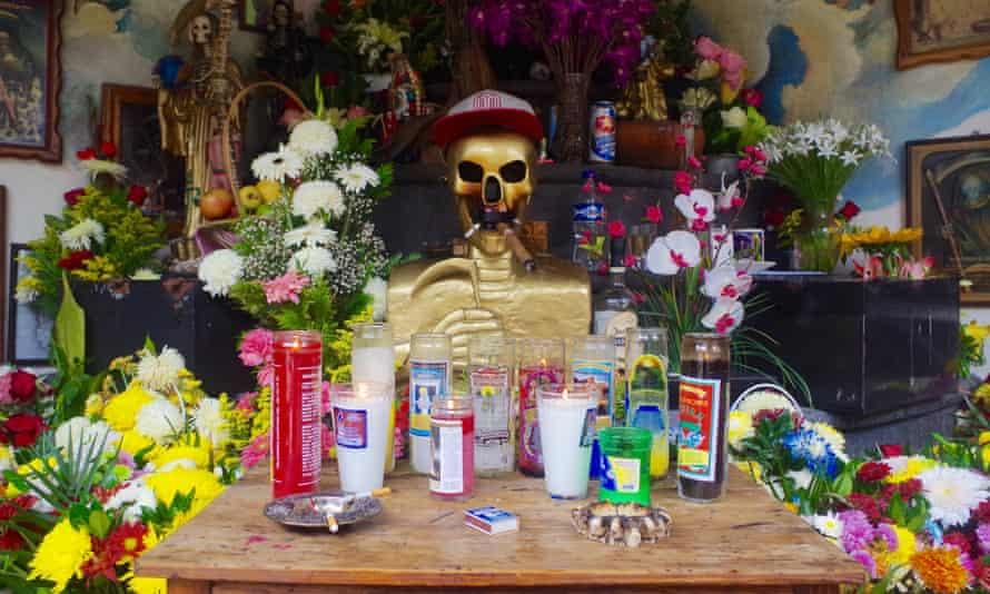 Altar Templo de Santa Muerte, Patzcauro, Mexico