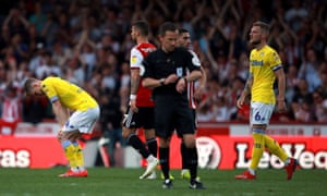 Dejection for Leeds at the final whistle.