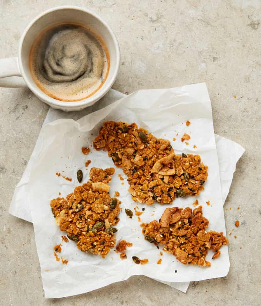 Yotam Ottolenghi's peanut butter cornflake brittle.
