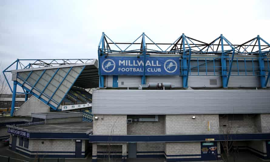 The Den, Millwall's home stadium in Bermondsey, south-east London.