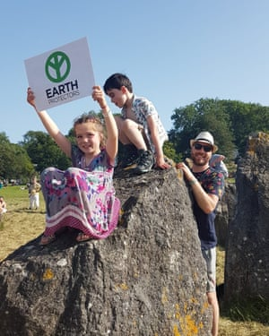 Holly, Charlie and Chris McNulty at an Extinction Rebellion event over the weekend.