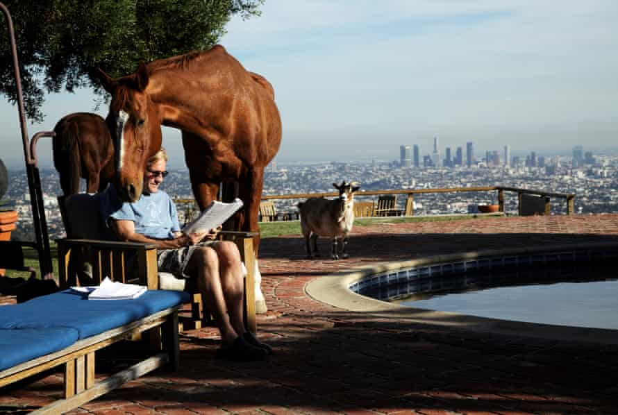 'It looks like the horse is reading his script' … Randal Kleiser by Tom Atwood.
