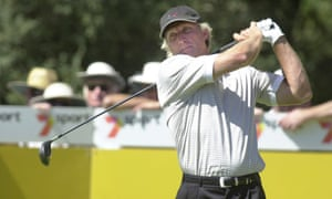 Greg Norman in action at Huntingdale in 2000
