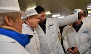Boris Johnson campaigning at Grimsby fish market