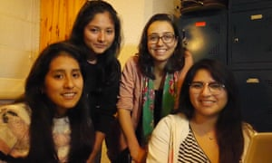 Mariana Costa with students at Laboratoria