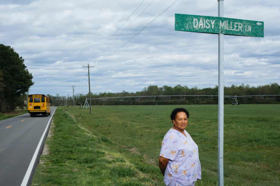 Rene Miller is currently involved in a lawsuit against the hog farm which sprays hog waste onto a field across the street from her home.