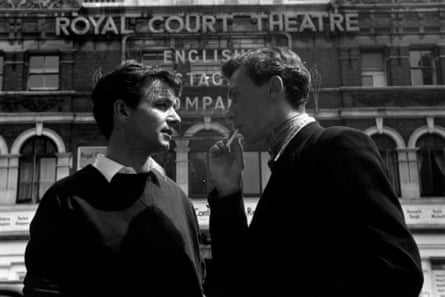 John Osborne, right, with Kenneth Haigh who played Jimmy Porter in Look Back in Anger.