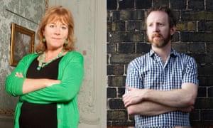 Wodehouse prize winners Hannah Rothschild and Paul Murray.