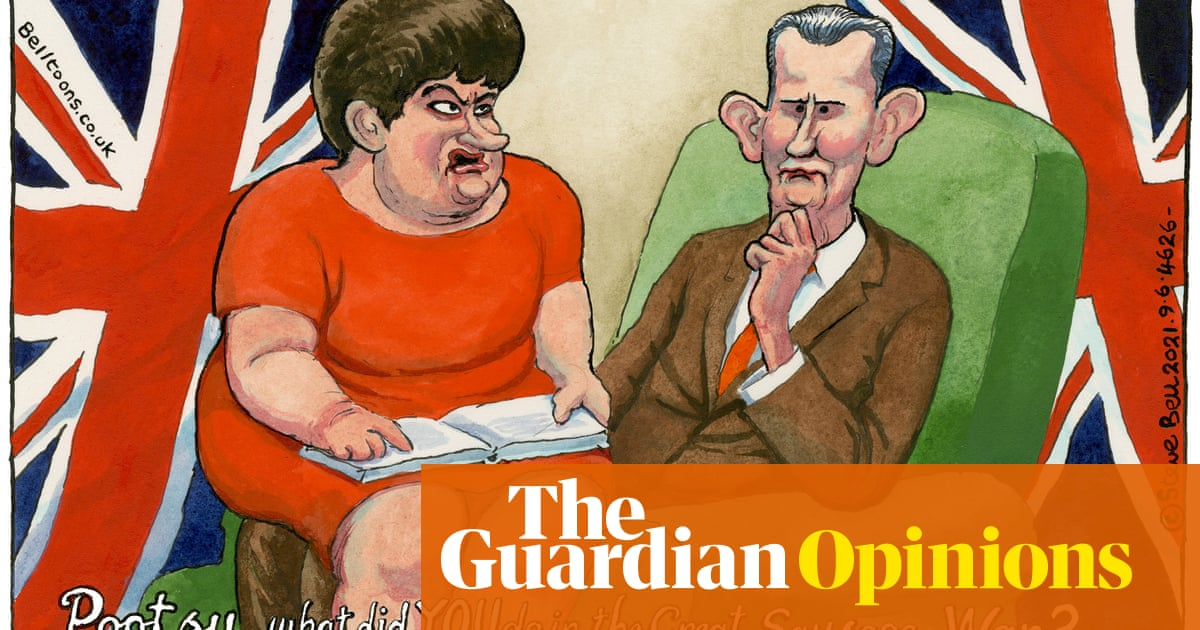 Steve Bell on rising tensions over sausage exports to Northern Ireland – cartoon