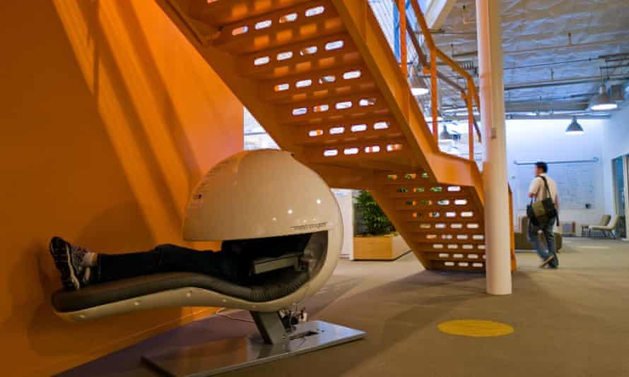Sleeping on the job: the nap pod at Google headquarters.