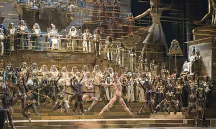 """Franco Zeffirelli's production of Aida at La Scala, Milan, 2006, which he saw as """"the sum of all the others – the Aida of Aidas""""."""