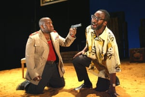 Lucian Msamati in the title role, and Joseph Mydell as Old Dogsborough, in The Resistible Rise of Arturo Ui at the Lyric Hammersmith in 2008