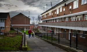 Housing estate in Prescot. Photograph: Christopher Thomond for the Guardian