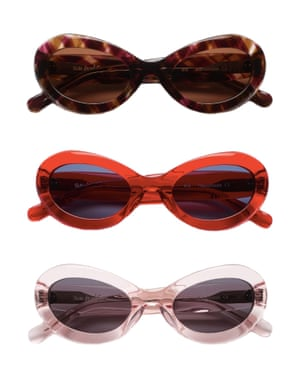 Sahdy charactersStep up your summer selfie game with Swedish unisex eyewear brand Sun Buddies. Its first design was modelled on a pair worn by actress Bibi Andersson in Ingmar Bergman's 1966 film Persona. All styles are handmade. £125, sunbuddieseyewear.com