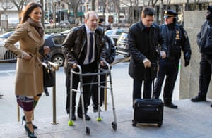 Harvey Weinstein arrives at New York City criminal court with his attorney Donna Rotunno on 17 January.