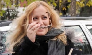 Journalist Olivera Lakić, who this week was injured by gunshot outside her home in Podgorica.