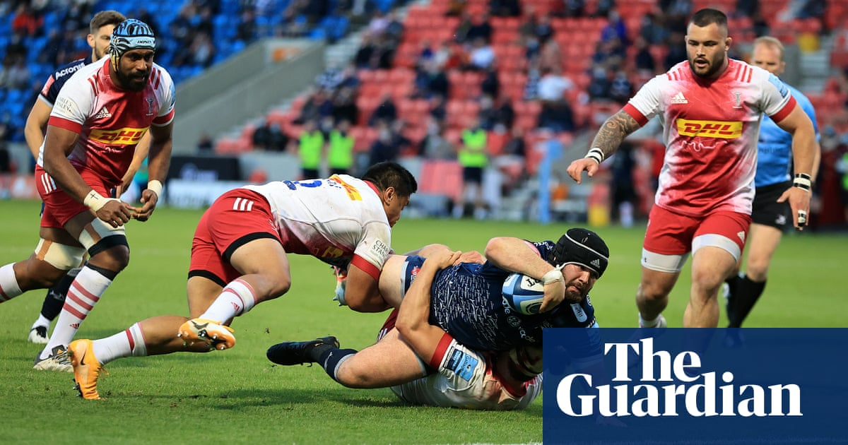 Sale make light of Manu Tuilagi's late withdrawal in rout of Harlequins