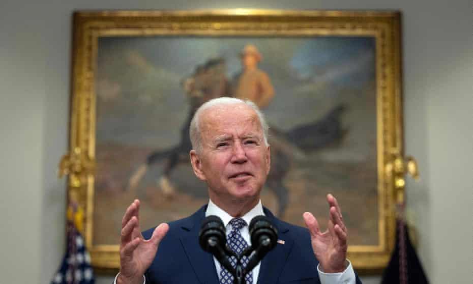 Joe Biden speaking in the White House.