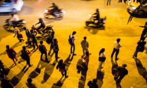 Commuters in New Delhi, India