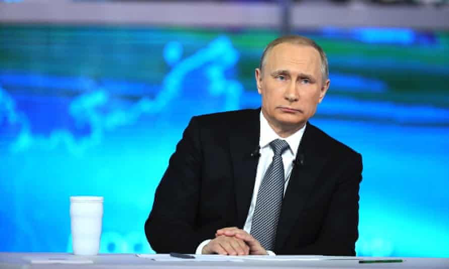 Putin's 'regime hates the west and uses anti-western conspiracies to explain away its thefts and crimes'.