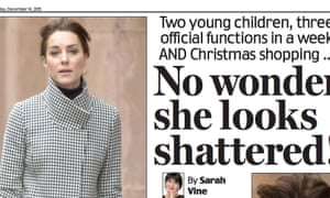 "The Daily Mail's page 3 ""story"" on the Duchess of Cambridge."