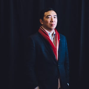 Businessman and 2020 presidential candidate Andrew Yang posed for a portrait after speaking to Iowan voters, supporters ahead of Iowa Caucus voting in Burlington, Iowa on January 29, 2020.