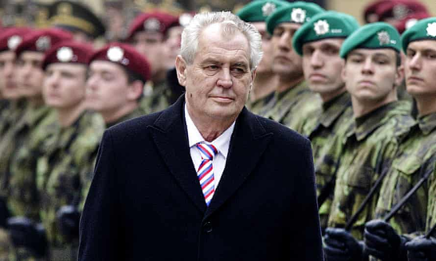Milos Zeman's Christmas message was criticised by the Czech prime minister