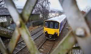 A Northern rail train in Accrington, Lancashire.