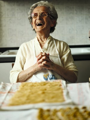From the book Pasta Grannies, 95-year-old Ida Pionzo from Piedmont, Italy.