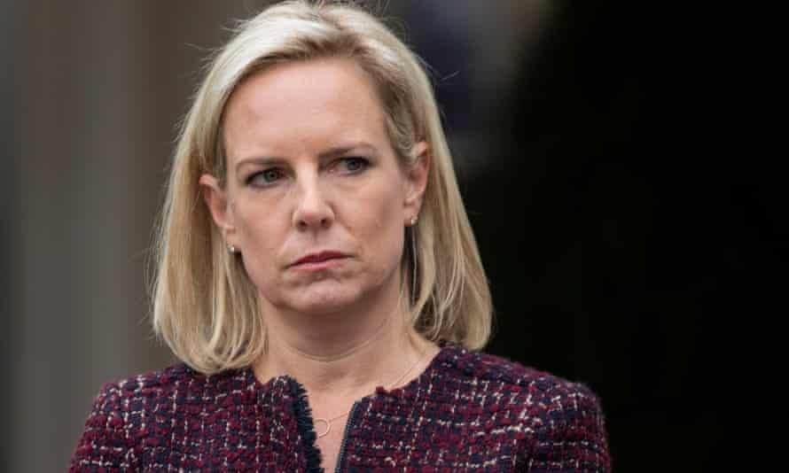 The then homeland security secretary, Kirstjen Nielsen, is believed to have been the target of a 'swatting' attack allegedly called in by neo-Nazi John C Denton.