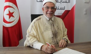 Abdelfattah Mourou, the Islamist-inspired Ennahda party candidate.