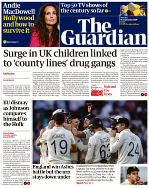 Guardian front page 160919