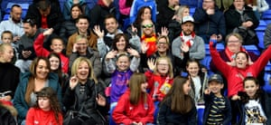 Liverpool fans are in a good mood ahead of last season's derby against Everton at Prenton Park in Birkenhead.
