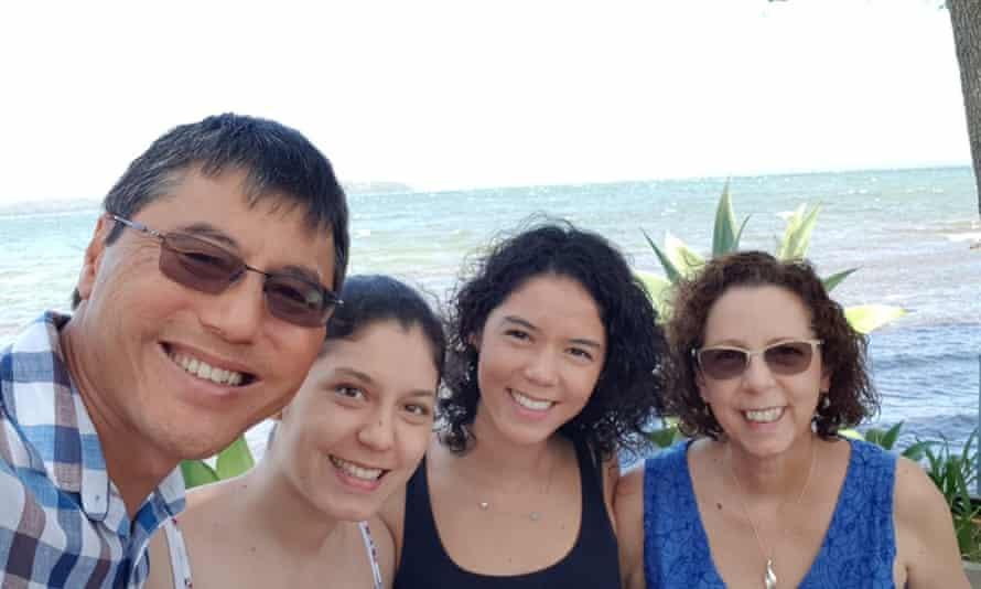Australian Erin Gregor with her family