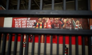 The locked gate at Anfield