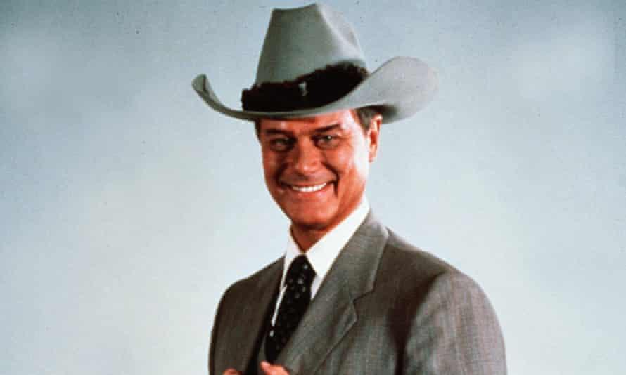 Oil be fine ... Larry Hagman as JR in Dallas.