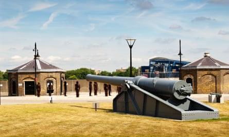 Cannon at Royal Arsenal Riverside, south-east London.